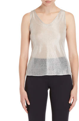 Akris Metallic Open Knit Tank