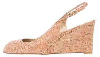 Stuart Weitzman Cork Wedge Sandals