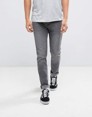 Pull&Bear Slim Jeans In Gray Wash