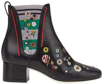 Fendi floral embroidered boots