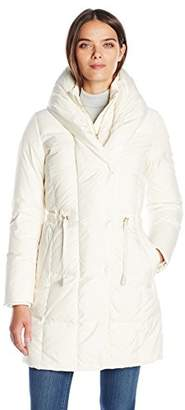 Cole Haan Women's Down Coat With Oversized Shawl