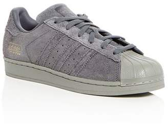 adidas Unisex Superstar Suede Lace Up Sneakers - Big Kid