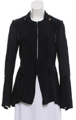 Balenciaga Sheer Long Sleeve Blazer