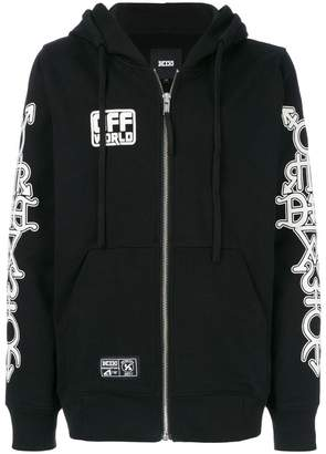 Kokon To Zai Masonic print hooded sweatshirt