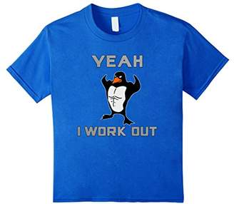 Original Penguin Yeah I Workout Penguin Motivational Weight Lifter T-Shirt