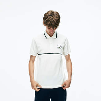 7f577e93a0f Lacoste Men's Slim Fit Striped Accents Petit Pique Polo