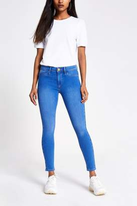 River Island Womens Mid Authentic Molly Sleigh Jeans - Natural