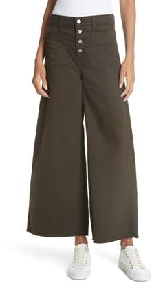 Elizabeth and James Carmine High Waist Wide Leg Crop Jeans