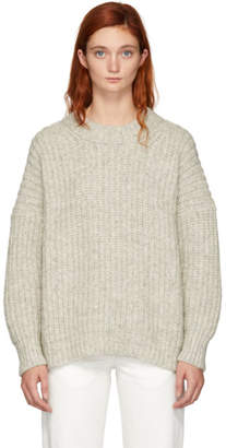 LAUREN MANOOGIAN Grey Alpaca Fisherwoman Crewneck Sweater