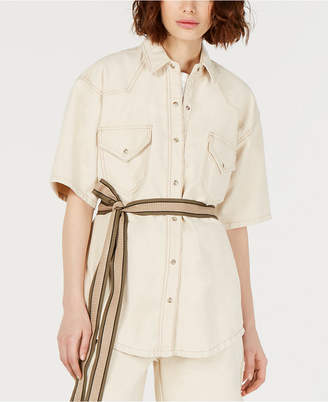 Current Air Short-Sleeve Cotton Jacket