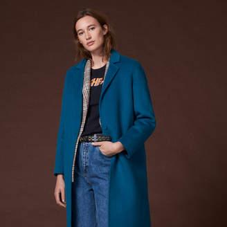 Sandro Double-sided wool coat