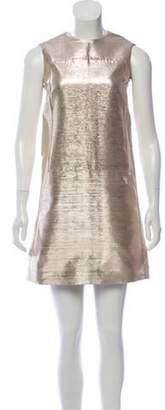 Calvin Klein Collection Sleeveless Shift Dress Gold Sleeveless Shift Dress