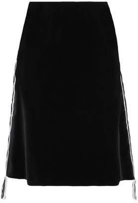 Sonia Rykiel Fringe-Trimmed Cotton-Velvet Skirt
