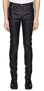 Maison Margiela Men's Leather Jeans - Black