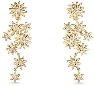 David Yurman Starburst Constellation Drop Earrings in 18K Gold with Diamonds