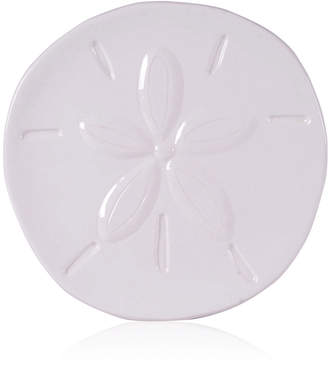 Fitz & Floyd Cape Coral Collection White Sand Dollar Snack Plate