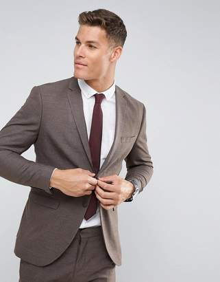 Selected Slim Suit Jacket In Texture