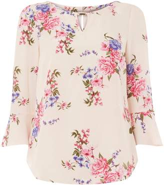 6134f72424fd Dorothy Perkins Womens   Billie   Blossom Pink 3 4 Sleeve Floral Print Top