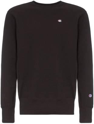 Champion black logo embroidered cotton sweatshirt