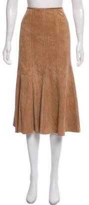 Lafayette 148 Leather Midi Skirt