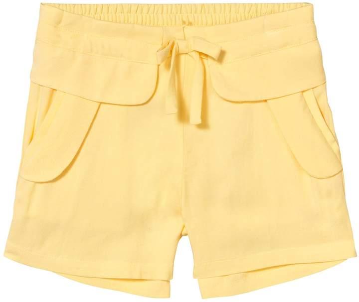 Chloé Yellow Woven Shorts