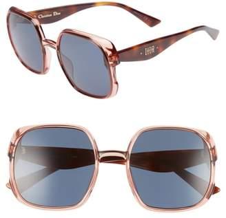 Christian Dior Nuance 56mm Square Sunglasses