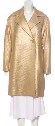 Issey Miyake Wool-Blend Knee-Length Coat