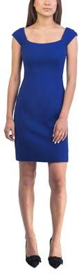 Prada Women's Virgin Wool Dress Blue.