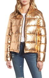 Andrew Marc Metallic Puffer Jacket