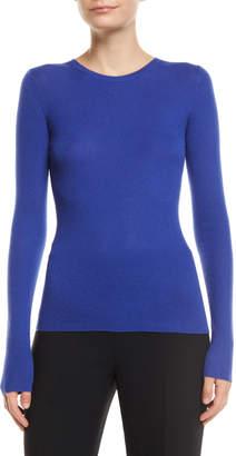 Michael Kors Crewneck Long-Sleeve Featherweight Cashmere Sweater