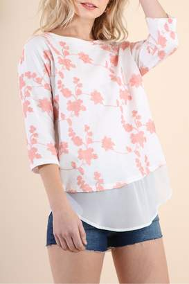 Umgee USA Floral Embroidered Tunic