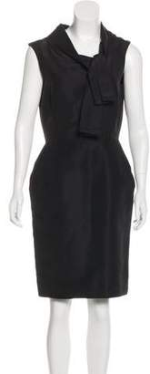 Oscar de la Renta Silk Sheath Dress