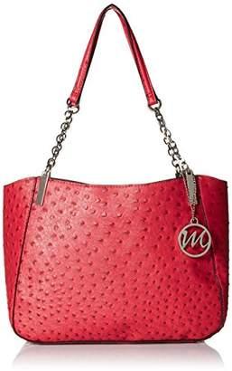 Emilie M. Nancy Ostrich Chain Shoulder Bag