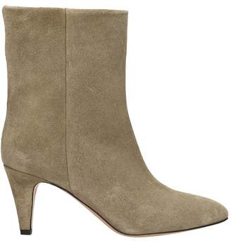 Isabel Marant Taupe Leather Ankle Boots