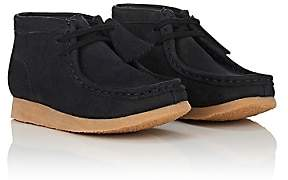 Clarks BNY Sole Series: Kids' Nubuck Wallabee Boots-Black