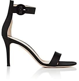 Gianvito Rossi Women's Portofino Satin Ankle-Strap Sandals-Black