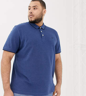 Jack and Jones essentials plus size polo in navy