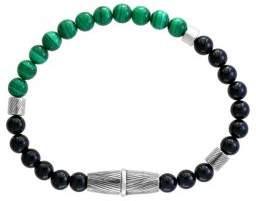 Effy Sterling Silver Malachite And Onyx Bracelet