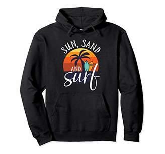 Vintage Retro Surfing Sun Sand Surf Hoodie