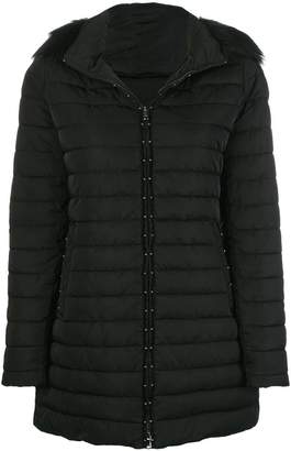 Emporio Armani faux fur trim hooded padded coat