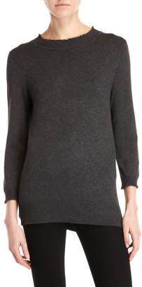 Max Studio Lettuce Trim Sweater