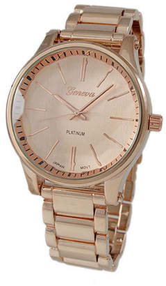 Geneva Platinum Womens Rose Goldtone Bracelet Watch-5965