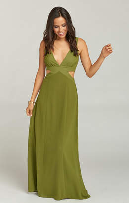 bccbc63d00f Show Me Your Mumu Kendra Maxi Dress ~ Dusty Olive Chiffon