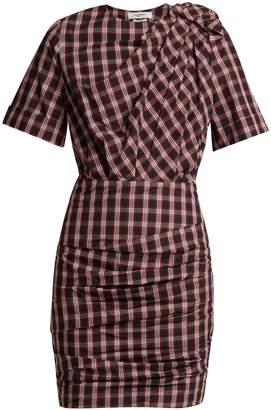 Etoile Isabel Marant Oria tartan ruched cotton dress