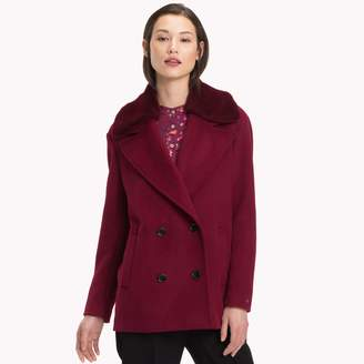 Tommy Hilfiger Fur Collar Peacoat