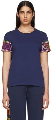 Kenzo Navy Limited Edition Multicolor Logo T-Shirt