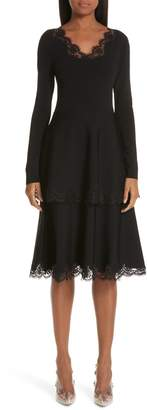 Stella McCartney Lace Trim Tiered Sweater Dress