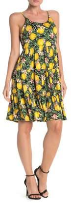 Spense Scoop Neck Lemon Print Dress