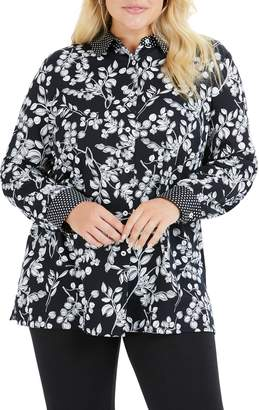 Foxcroft Libby in Whimsy Floral Shirt