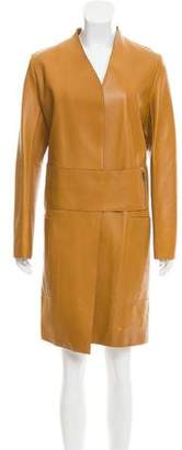 The Row Leather Knee-Length Coat